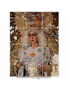 Retablo de 12 azulejos con la Virgen de la Esperanza Macarena de Sevilla