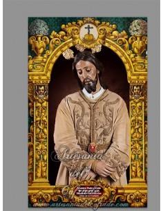 Azulejo rectangular de Nuestro Padre Jesús del Consuelo en el Desprecio de Herodes de Jerez