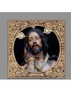 Azulejo cuadrado del Cristo de Humildad y Paciencia de Cádiz