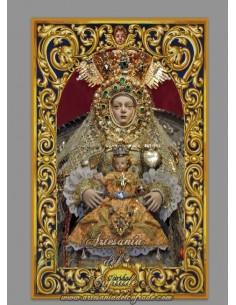 Azulejo rectangular de Nuestra Señora de la Caridad de Sanlúcar de Barrameda