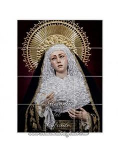 Retablo de 12 azulejos de María Santísima de las Aguas de Sevilla