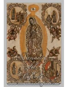 Azulejo rectangular de la virgen de Guadalupe