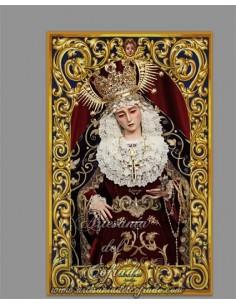 Azulejo rectangular de Nuestra Señora del Subterráneo de Sevilla (Hermandad de la Sagrada Cena)