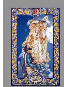Azulejo rectangular con Nuestra Santisima Madre de la Merced