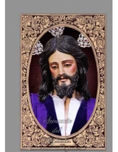 Azulejo rectangular de Nuestro Padre Jesús de la Paz de Cádiz (La Borriquita)