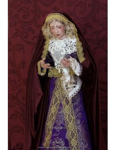 Virgen Dolorosa de candelero de 55 ctm de altura y vestida