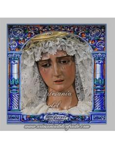 Azulejo de la Virgen de la Hiniesta de Sevilla