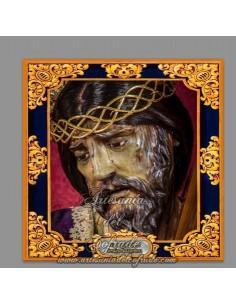 Azulejo cuadrado de Nuestro Padre Jesús Nazareno de Rota (Cádiz)