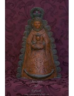 Figura de la Virgen del Rocio patinada de 46 ctm