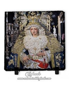 Baldosa de pizarra cuadrada de Nuestra Señora de los Ángeles de Sevilla
