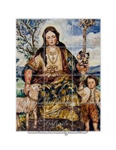 Retablo de 12 azulejos de la Divina Pastora de Cantillana