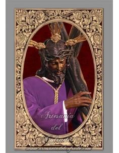 Azulejo rectangular de Jesús de la Salud (Hermandad de los Gitanos)