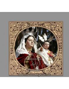 Azulejo cuadrado de Nuestra Señora de la Luz (Patrona de Tarifa)