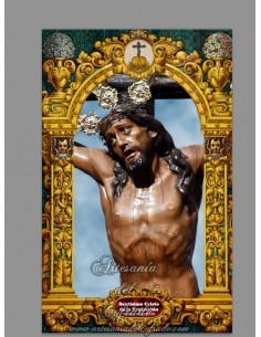 Azulejo rectangular del Santísimo Cristo de la Expiración de Sanlúcar de Barrameda