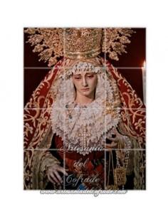 Retablo de 12 azulejos de Nuestra Señora del Carmen en sus Misterios Dolorosos de Sevilla
