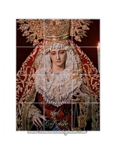 686fdf6a7a5 En venta mosaico cerámico de 12 azulejos de la Virgen del Carmen en sus  Misterios Dolorosos