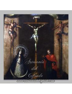 Precioso azulejo cuadrado del Calvario de Cristo