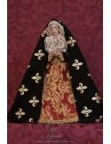 Se vende virgen dolorosa de 45 ctm de altura con manos unidas y vestida