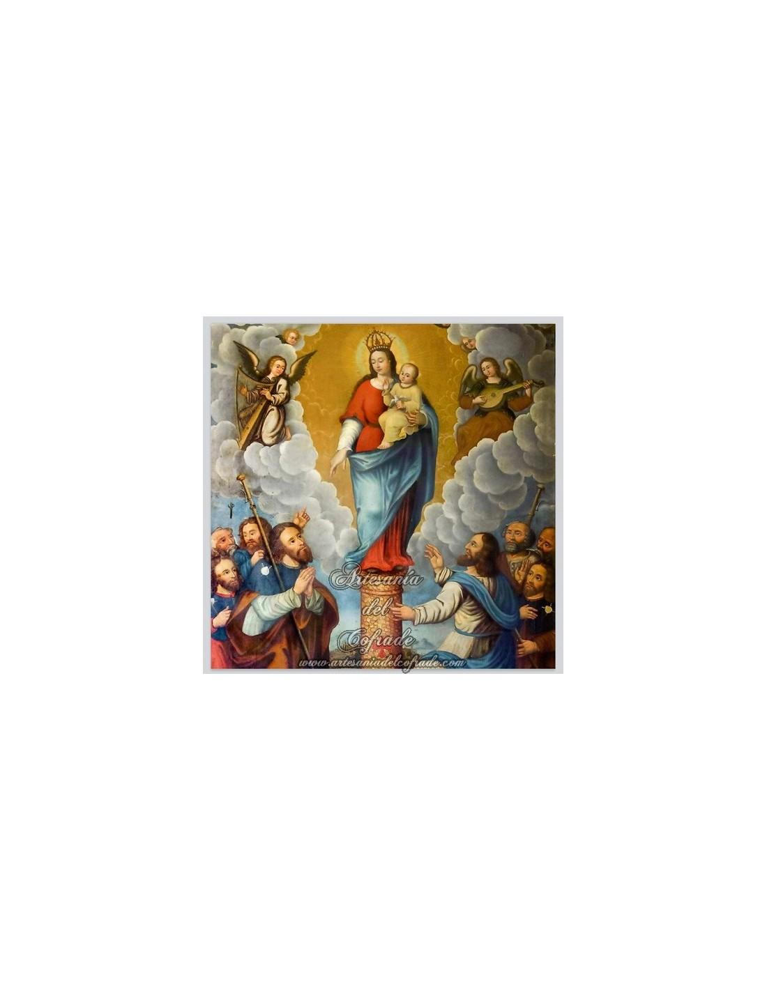 Azulejo de la virgen del pilar tienda cofrade artesan a - Azulejos el pilar ...