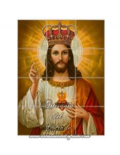 Retablo de 12 azulejos del Sagrado Corazón de Jesús
