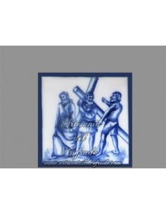 Se vende cerámica con momento de la Pasión de Cristo.REF:005