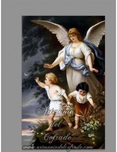 Se vende azulejo con la imagén del Ángel de la Guarda o Ángel Custodio