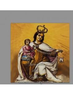Azulejo cuadrado de la Virgen del Carmen
