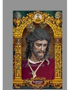 Azulejo rectangular de Ntro. Padre Jesús en su Soberano Poder ante Caifás (San Gonzalo de Sevilla)