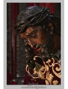 Precioso azulejo rectangular del Cristo de las Tres Caidas de Triana