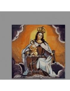 Se vende azulejo cuadrado con la Virgen del Carmen - Tienda de Articulos Religiosos