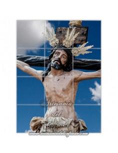 Retablo de 12 azulejos del Santísimo Cristo de la Exaltación de Sevilla