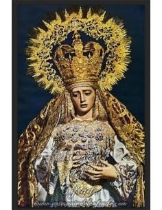 Azulejo rectangular de la Virgen de la Amargura de Sevilla