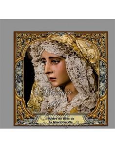 Azulejo cuadrado de Madre de Dios de la Misericordia de Jerez de la Frontera
