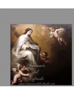 Azulejo cuadrado con la Virgen de la Merced