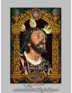 Azulejo rectangular de Nuestro Padre Jesús de la Oración en el Huerto de Montesión (Sevilla)