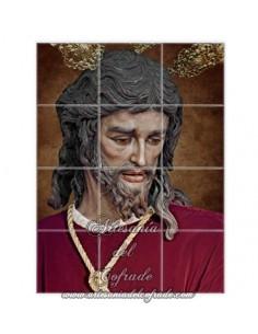 Retablo con 12 azulejos del Cristo de San Gonzalo de Sevilla