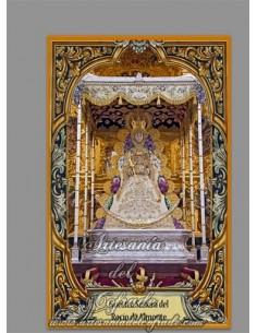 Azulejo rectangular de Nuestra Señora del Rocío de Almonte