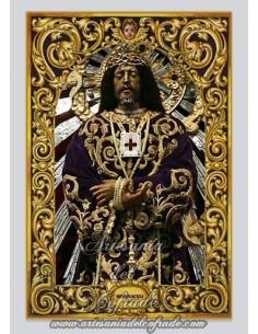Precioso azulejo rectangular del Cristo de Medinaceli de Madrid