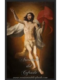 Maravilloso azulejo rectangular de Jesús Resucitado.