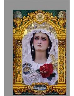 En vesta esta cerámica de la Virgen de la Amargura (Zamarrilla de Malaga) - Tu Tienda Cofrade