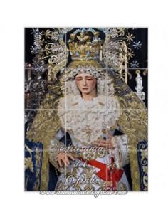 Retablo de 12 azulejos de Nuestra Señora de los Angeles de Sevilla