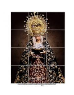 Se vende este mosaico cerámico de 12 azulejos de la Virgen de la Esperanza de Jerez - Tienda Cofrade