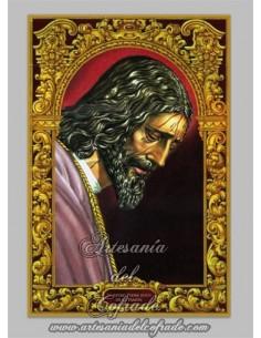 Precioso azulejo rectangular del cristo de Pasión de Sevilla