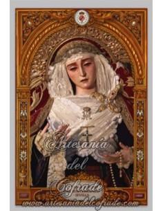Azulejo rectangular de la Virgen del Subterraneo de Sevilla