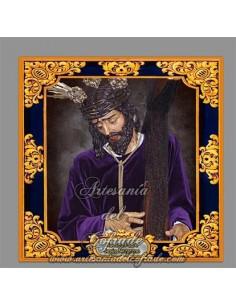 Azulejo cuadrado de Nuestro Padre Jesús Nazareno de Puebla de Cazalla