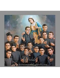 Azulejo de los mártires de Fernancaballero.