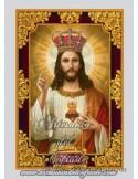 Azulejo rectangular del Sagrado Corazón de Jesús