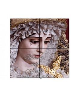 Retablo de 4 azulejos de María Santísima de las Penas de Cádiz