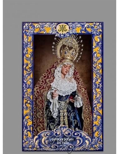 Azulejo rectangular de Nuestra Señora del Valle de Sevilla (Hermandad del Valle)