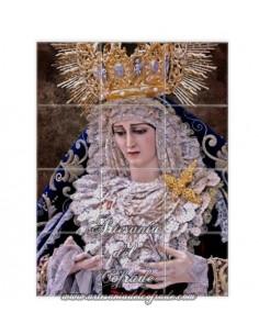 Retablo de 12 azulejos de María Santísima de las Penas de Cádiz